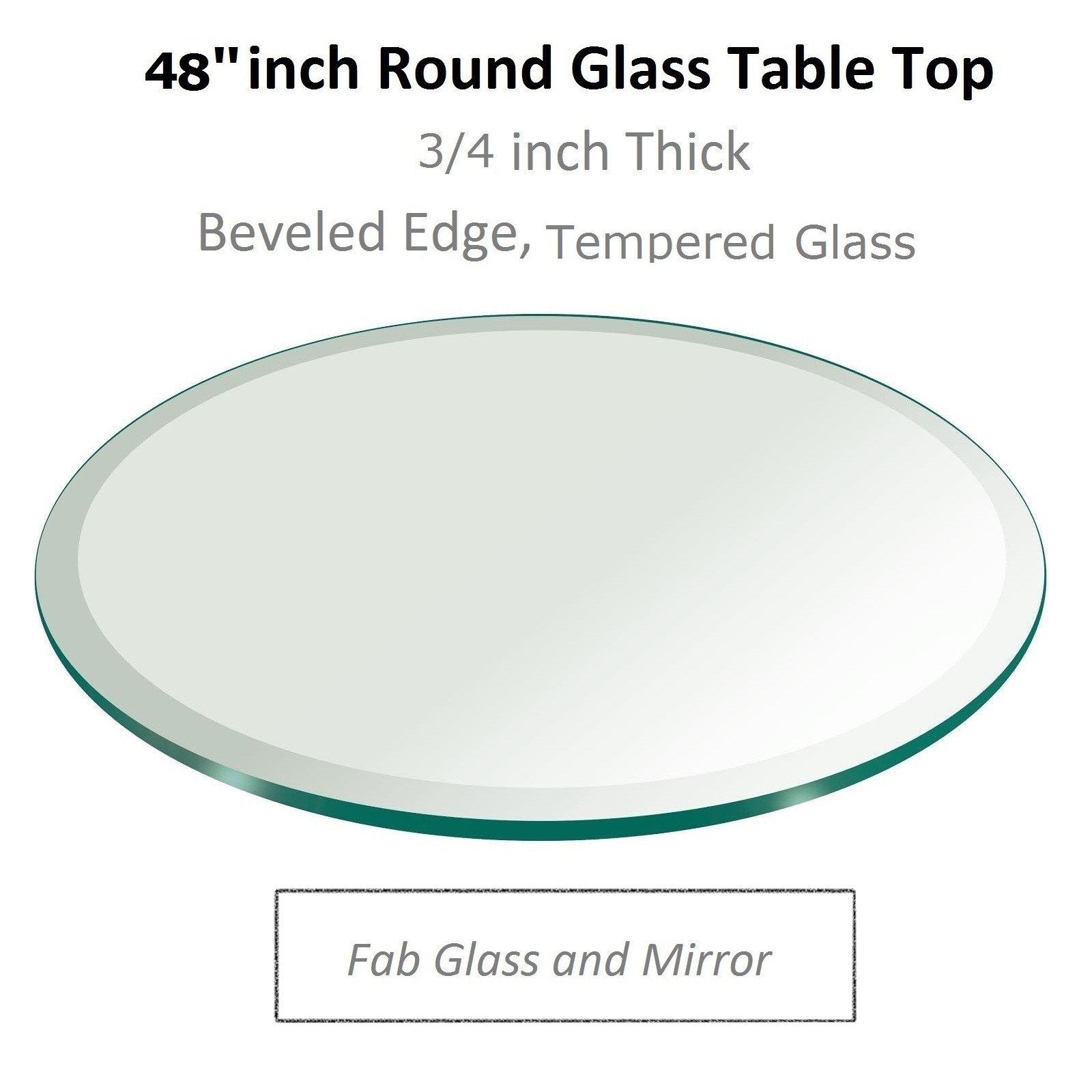 48 inch glass table top for perfect placement at dining room for Glass and mirror
