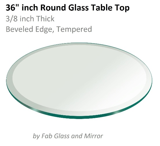 36 Inch Round Glass Table Is Perfect For Medium Sized Room