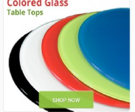 Colored Glass Table Tops