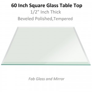 Square Glass Dining table for 8