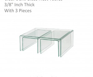Clear bent Glass Nest Tables