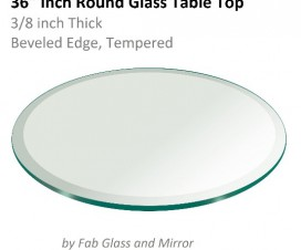 36 inch Round Glass Table Top