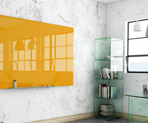 Orange-coloured-bespoke-glass-writeboard