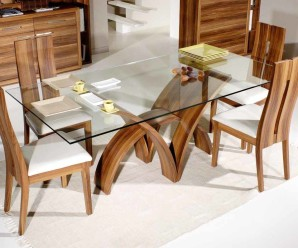 Nice Wooden Furniture Design Dining Table full size of dining room furniture glasses round dining table seat cream rugs wooden contemporary whats How To Add Grace And Fresh Look In Your Wooden Furniture With Glass Tops
