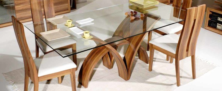 small-glass-top-dining-table-with-cool-wooden-leg-design-idea-feat-contemporary-chairs-furniture-set