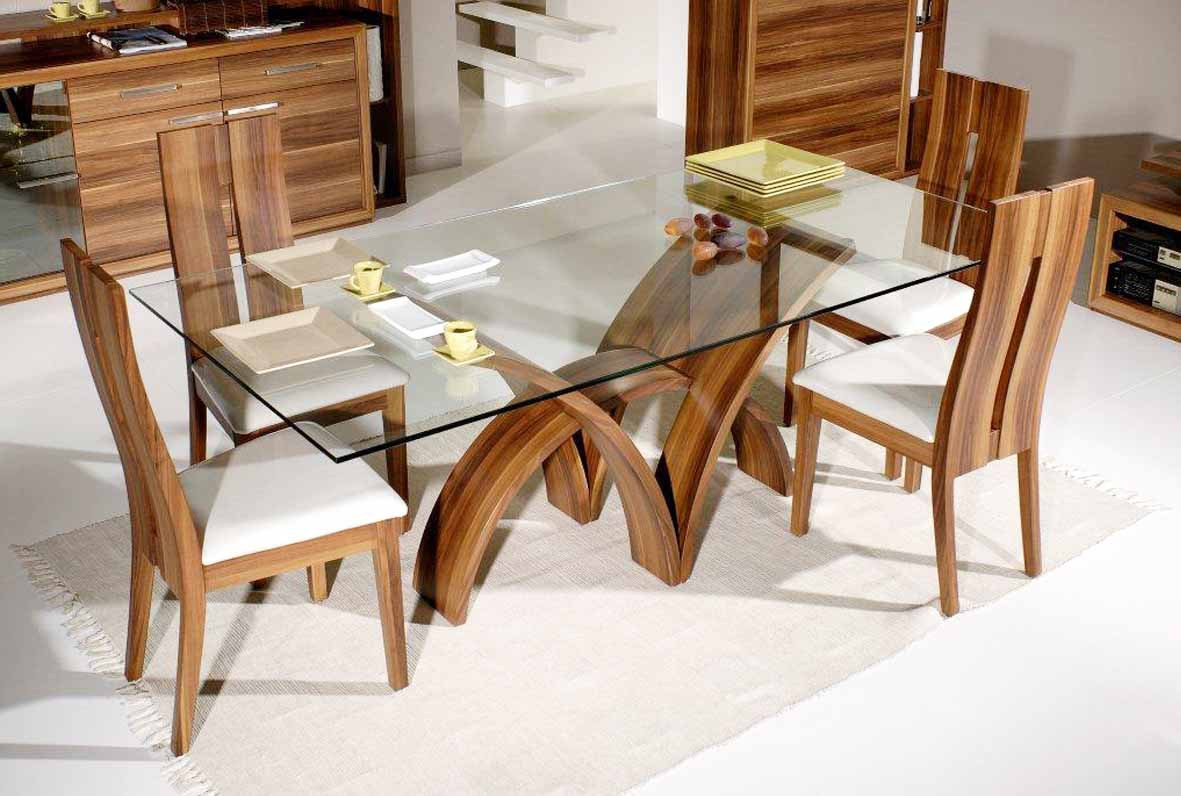 Add Grace In Wooden Furniture With Glass Top