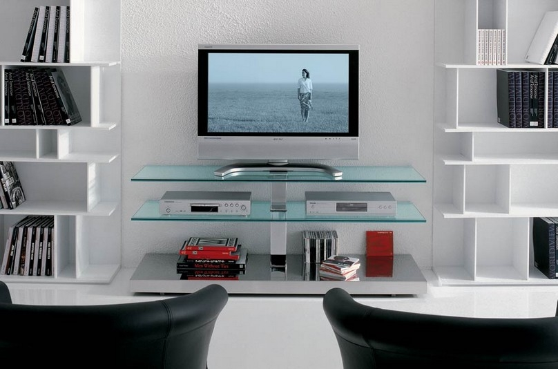 Wall Tv Stand Ideas For A Modern Living Room Wood And Glass Stands