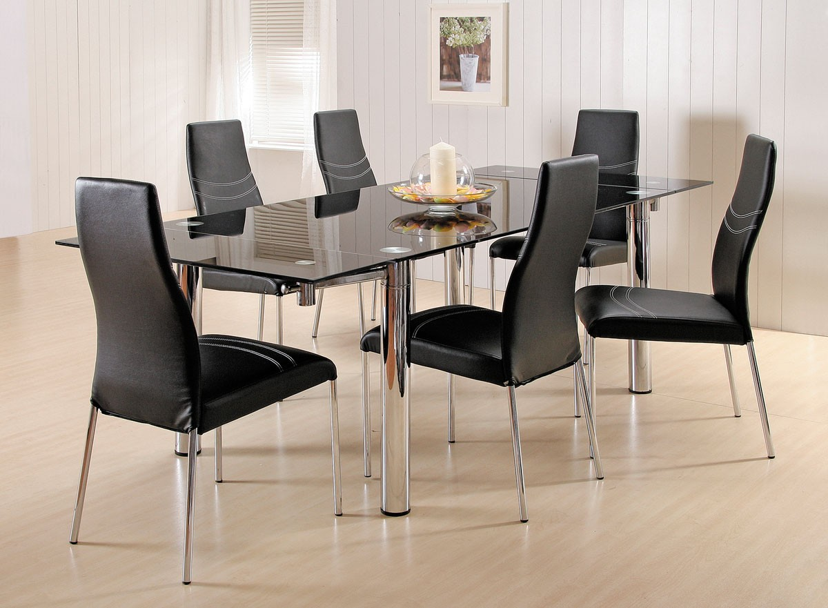 Ultra Stylish Black Upholstered Leather Chairs And Sleek
