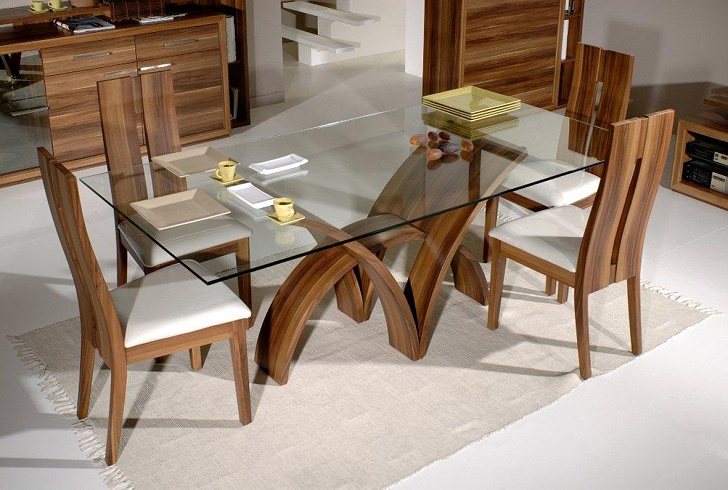 Extensive quality glass dining table top