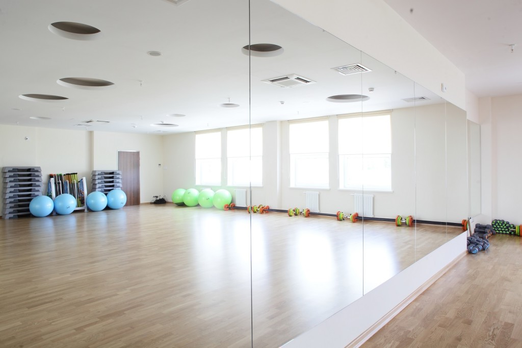 well lit workout space