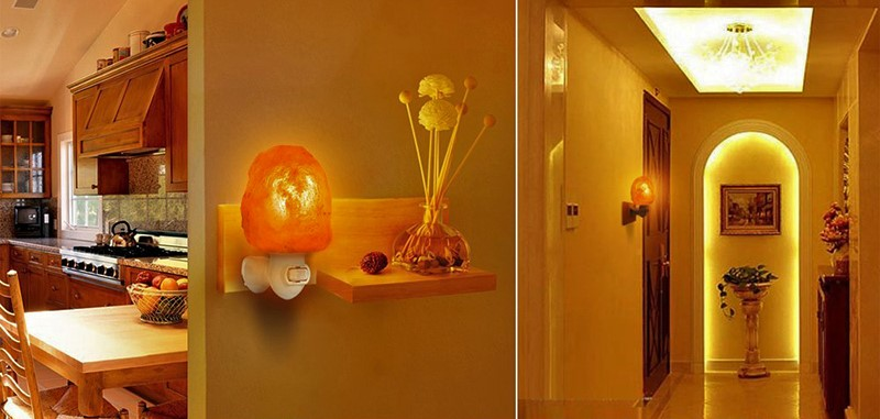 Salt lamp home decor