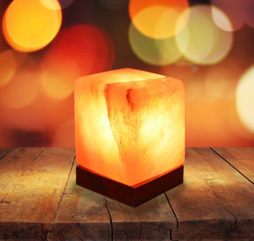 Rock salt lamp in hospital and recovery room
