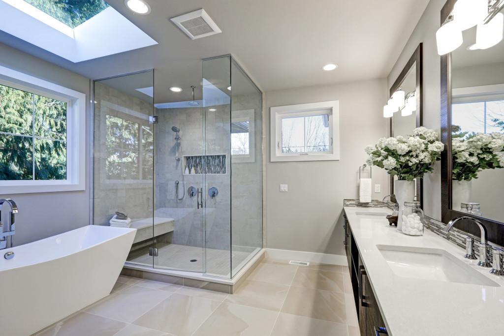 Skylight for bathroom remodeling
