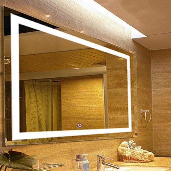 LED mirror an anti fog bathroom accessory