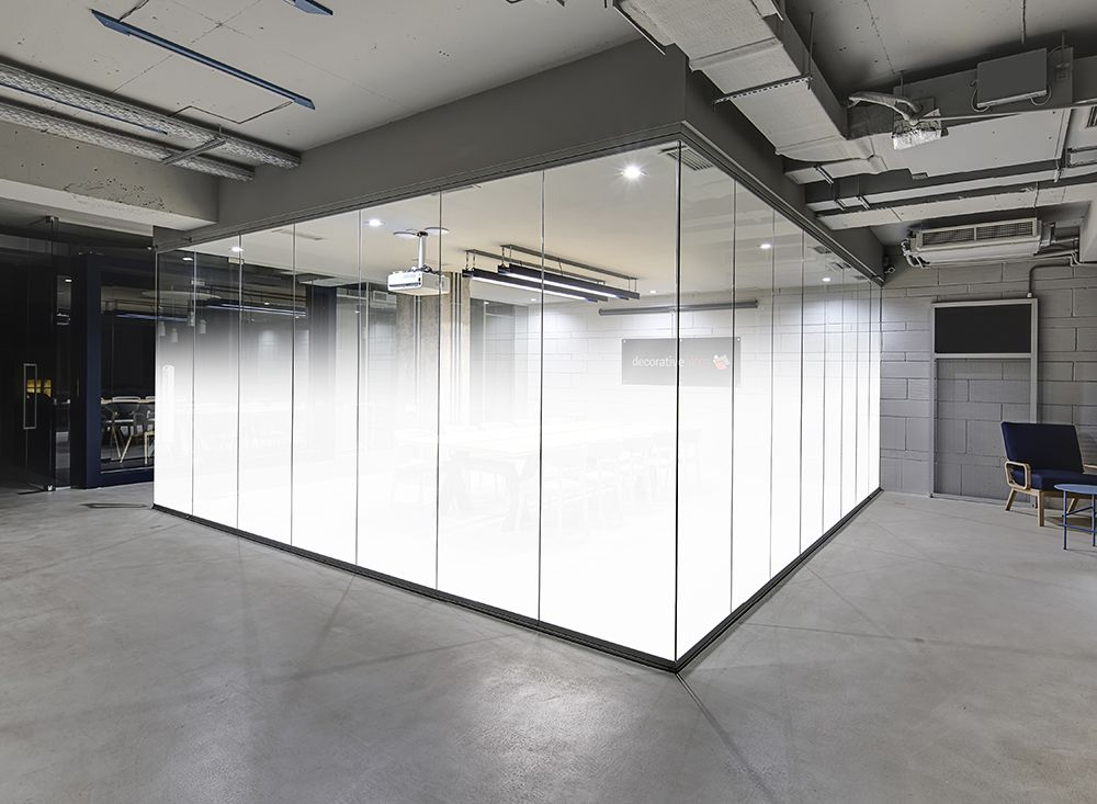 tinted glass wall and doors