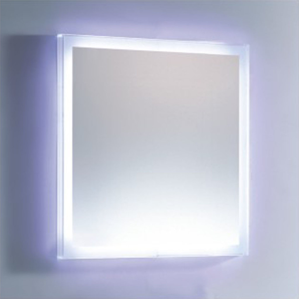LED mirror in room