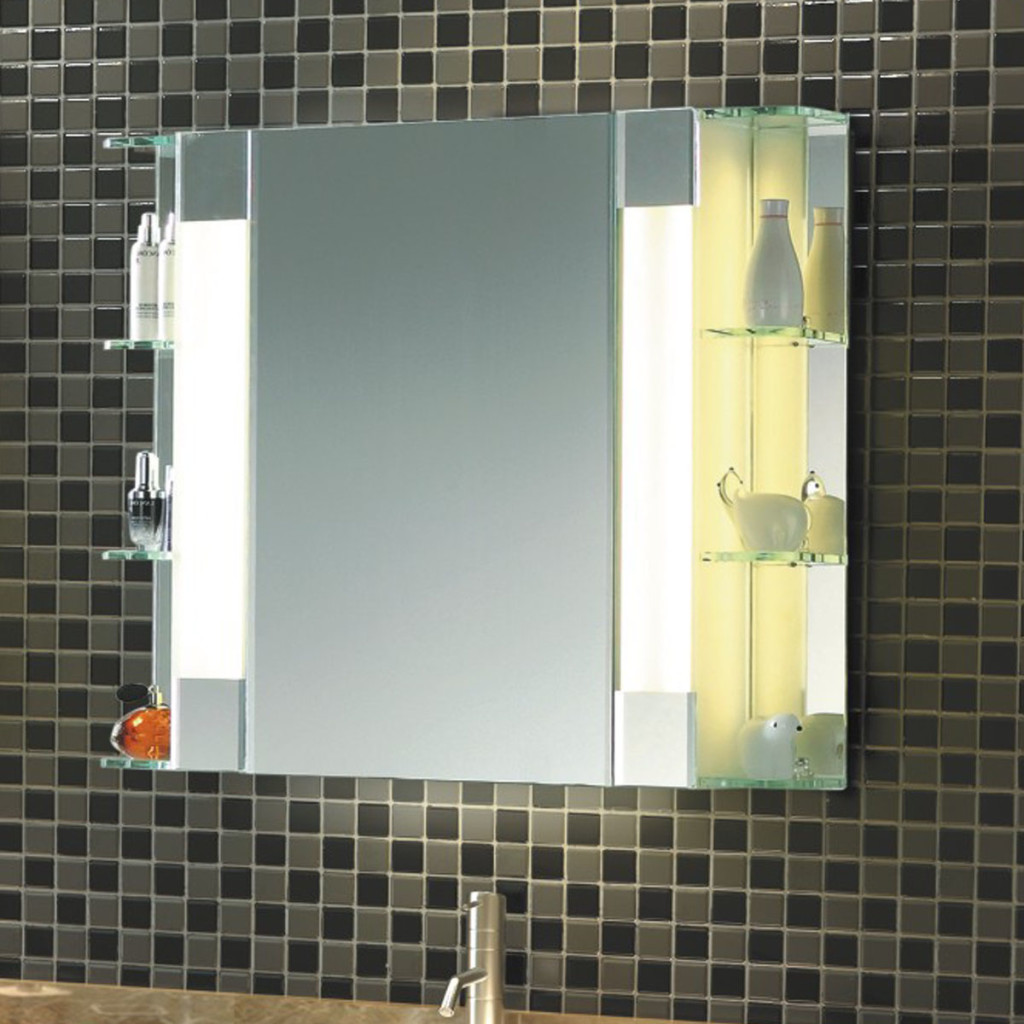 LED Mirror Cabinet in bathroom
