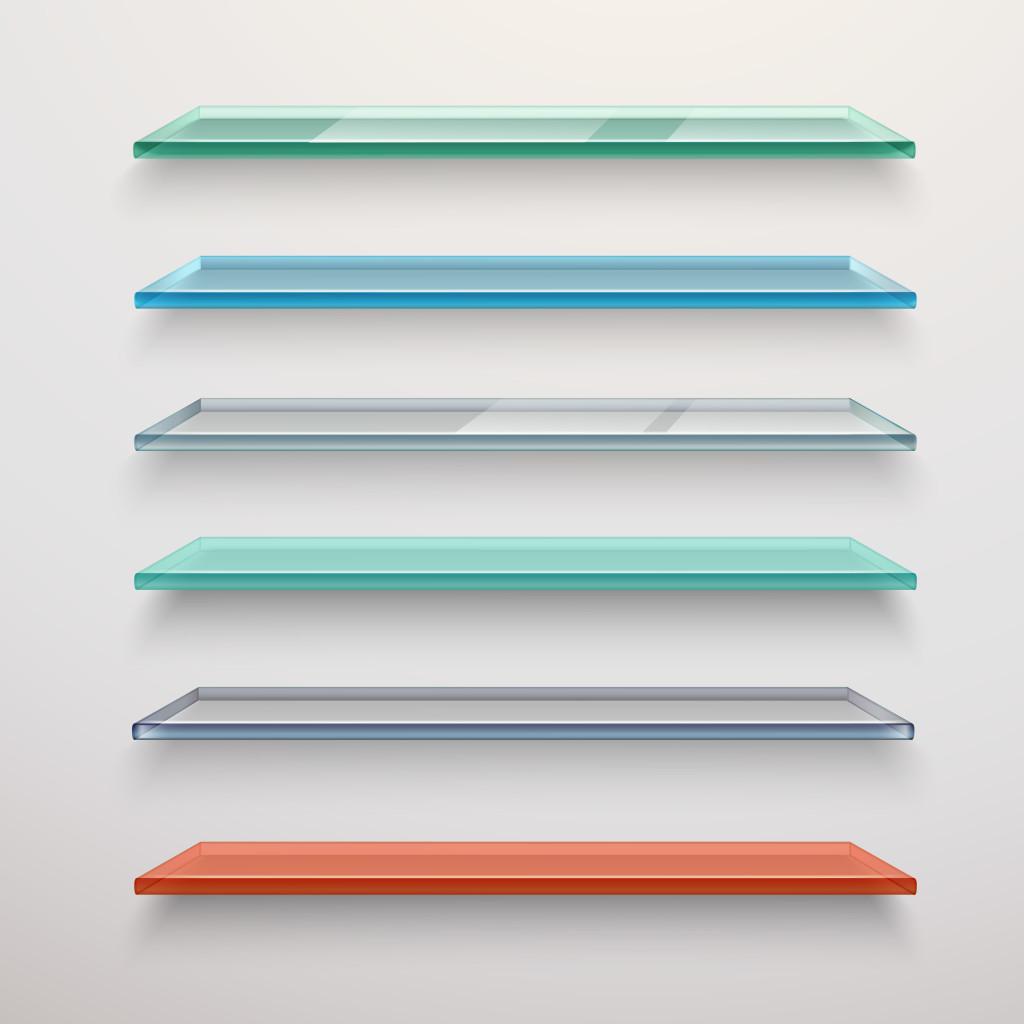 Glass Shelves Set for Pantry