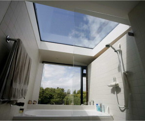 Skylight with Plexiglass sheets