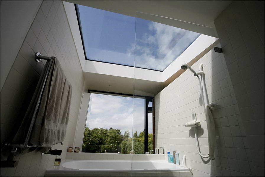 Skylight with Plexiglass sheets