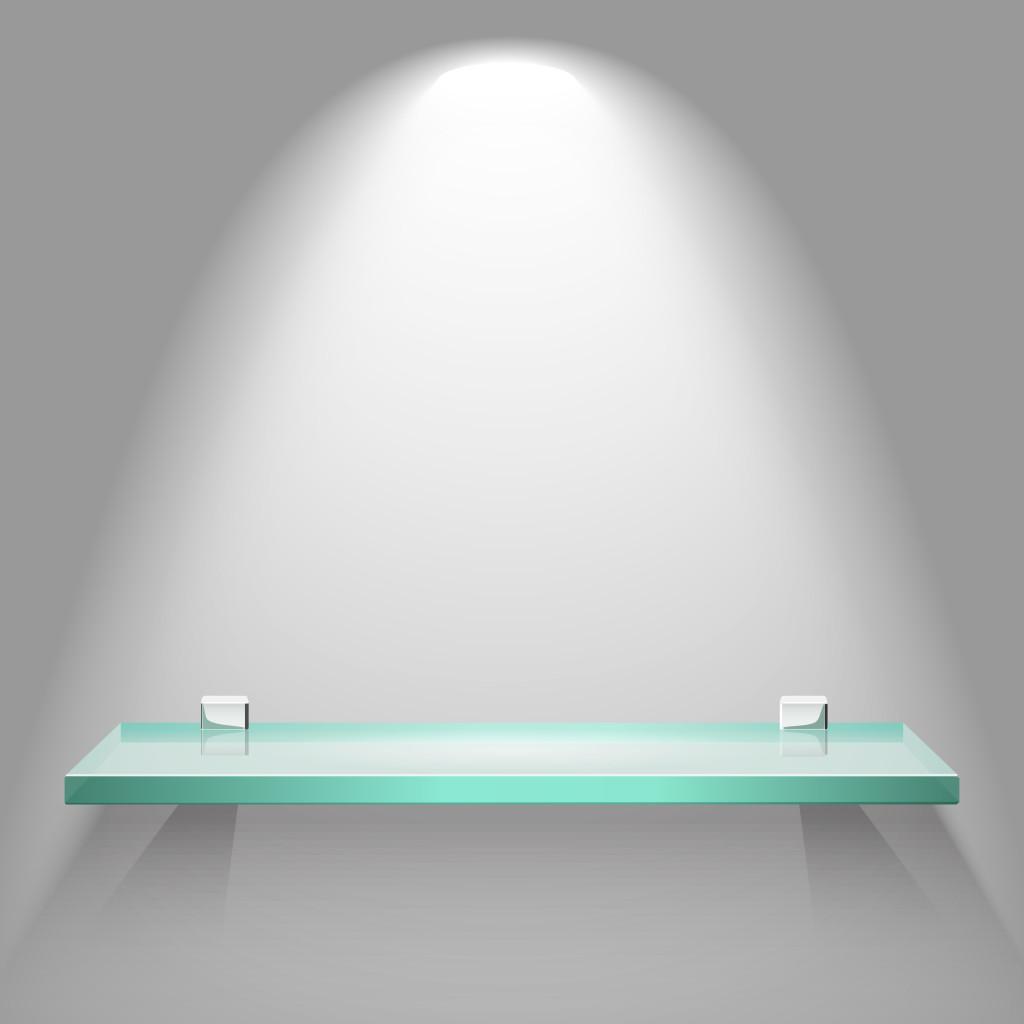 Rectangle glass shelf