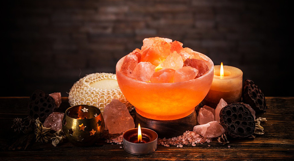 Salt lamp for home decor