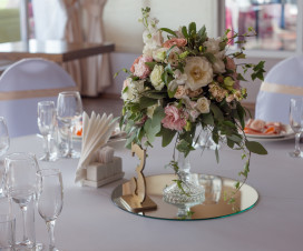Mirror Centerpieces with Vase