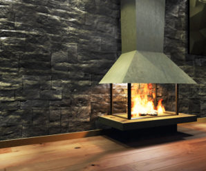 Fireplace glass for home