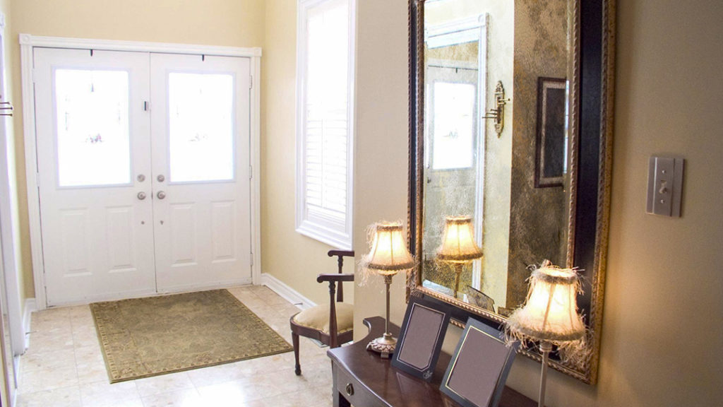 Hallways with Mismatched Antique Mirrors