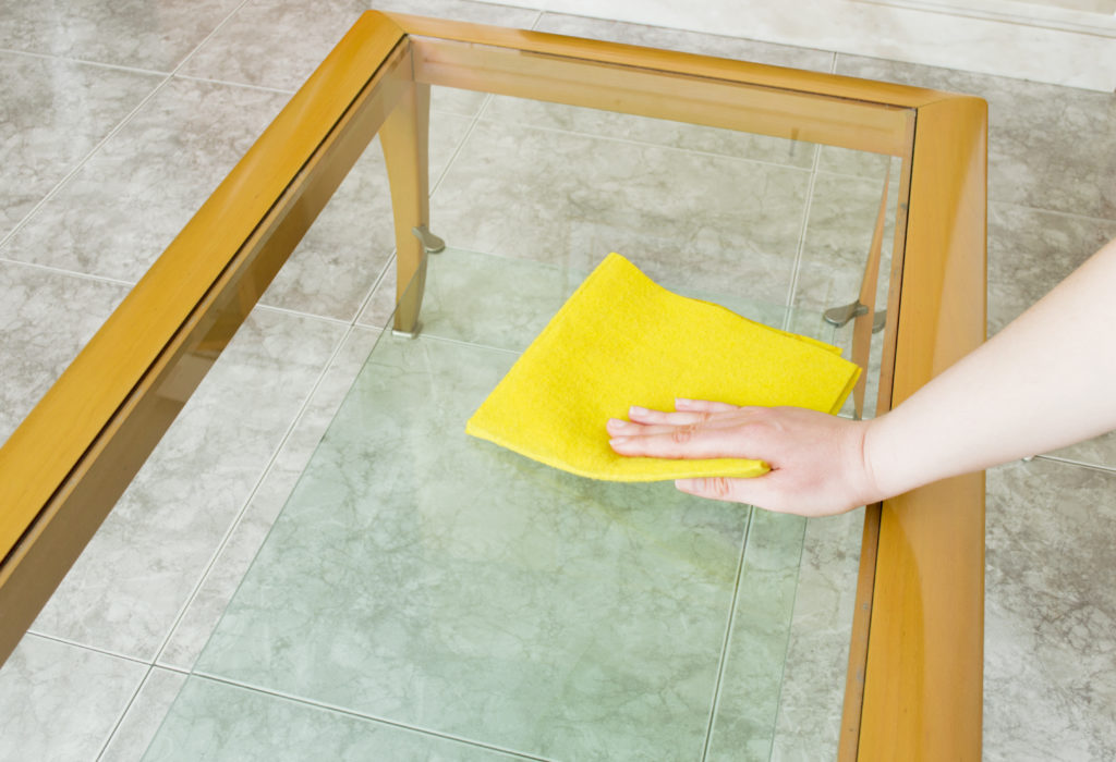Cleaning glass is easy job