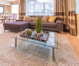 elegant glass table top