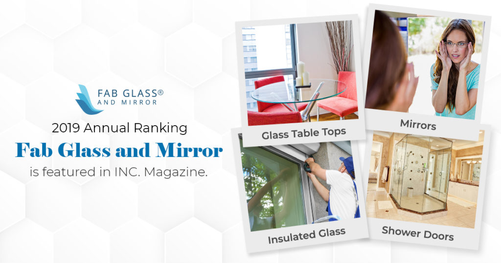 Fab glass and mirror featured in Inc. 5000 list