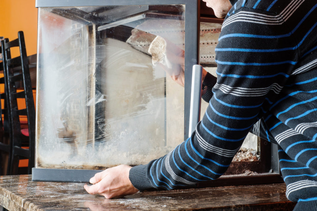 How To Clean Fireplace Glass Doors Fab Glass And Mirror