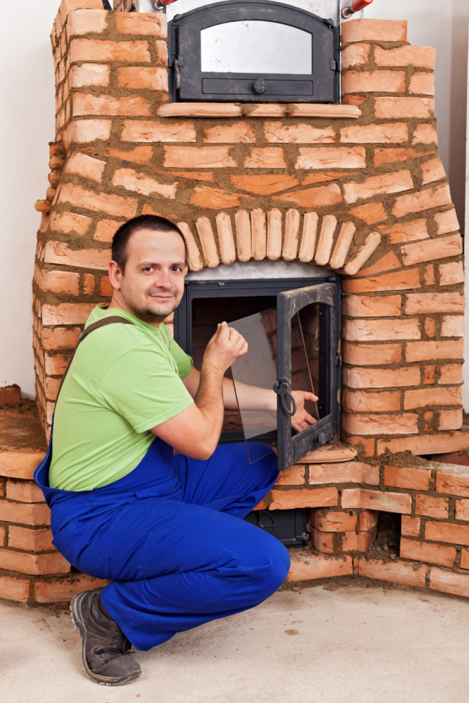 Remove glass from fireplace