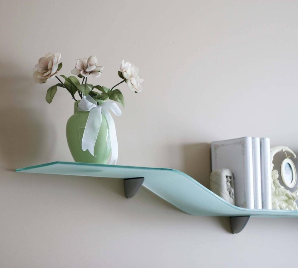 bent glass shelf