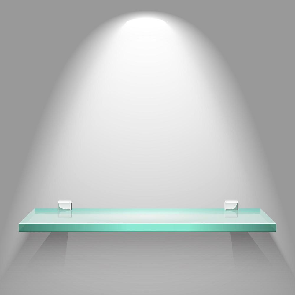 led glass shelf