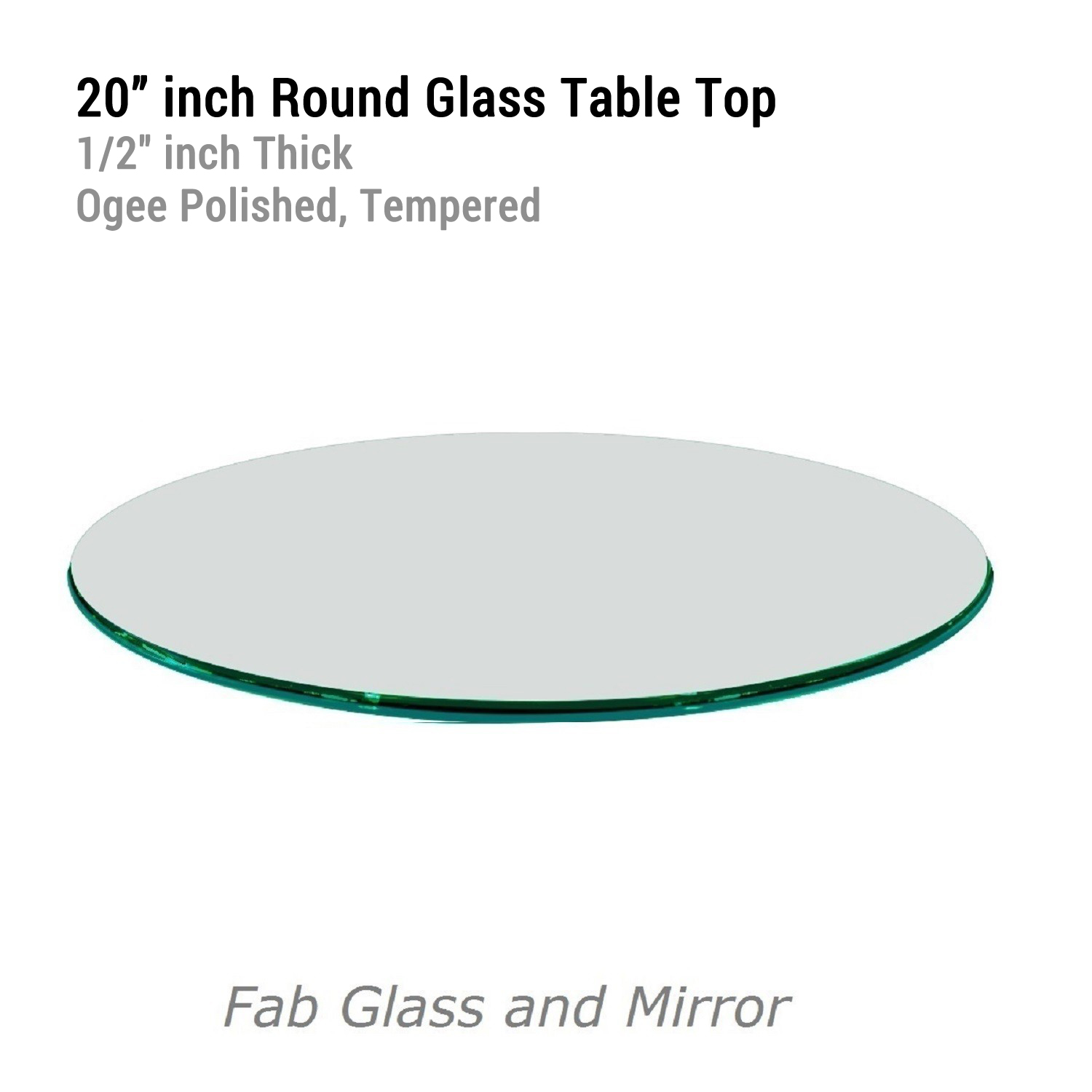 Round glass table tops - Fab Glass And Mirror 12 034 To 72