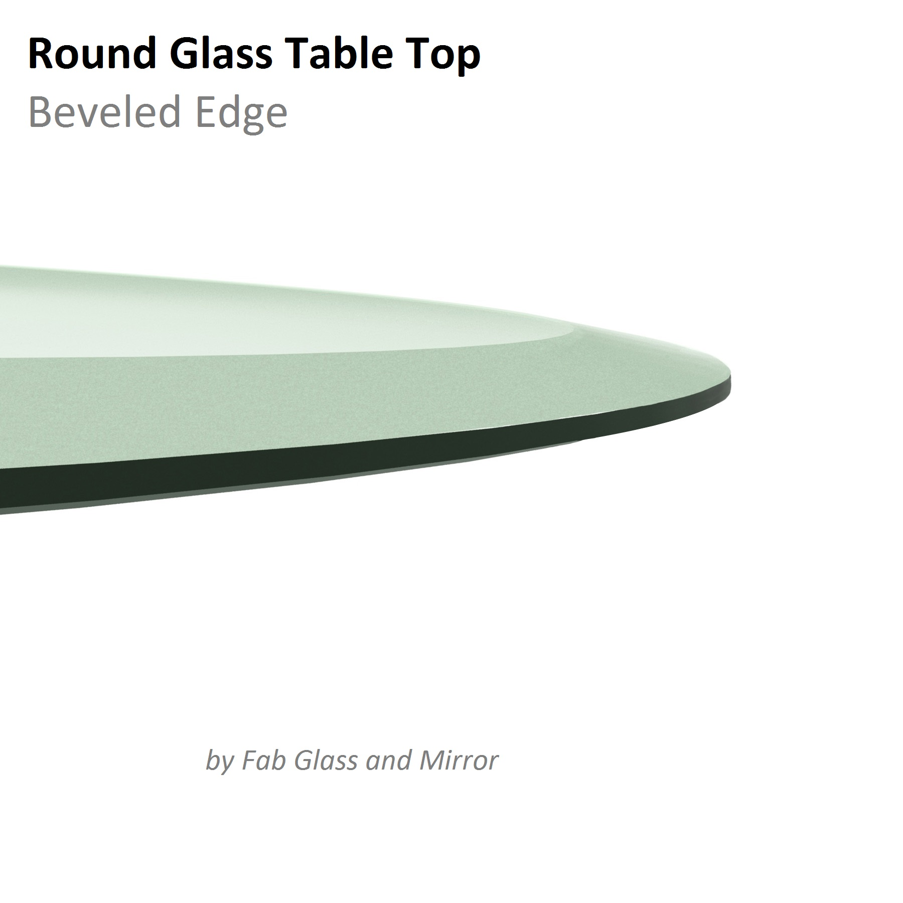 Fab Glass And Mirror Round Clear Glass Table