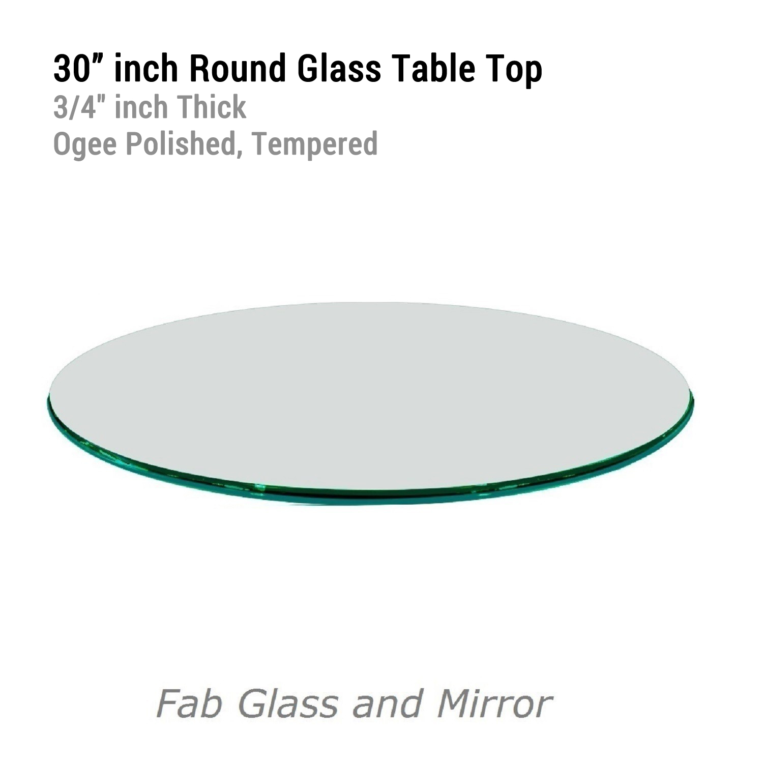 Fab glass and mirror 12 to 72 inch round clear glass Round glass table top
