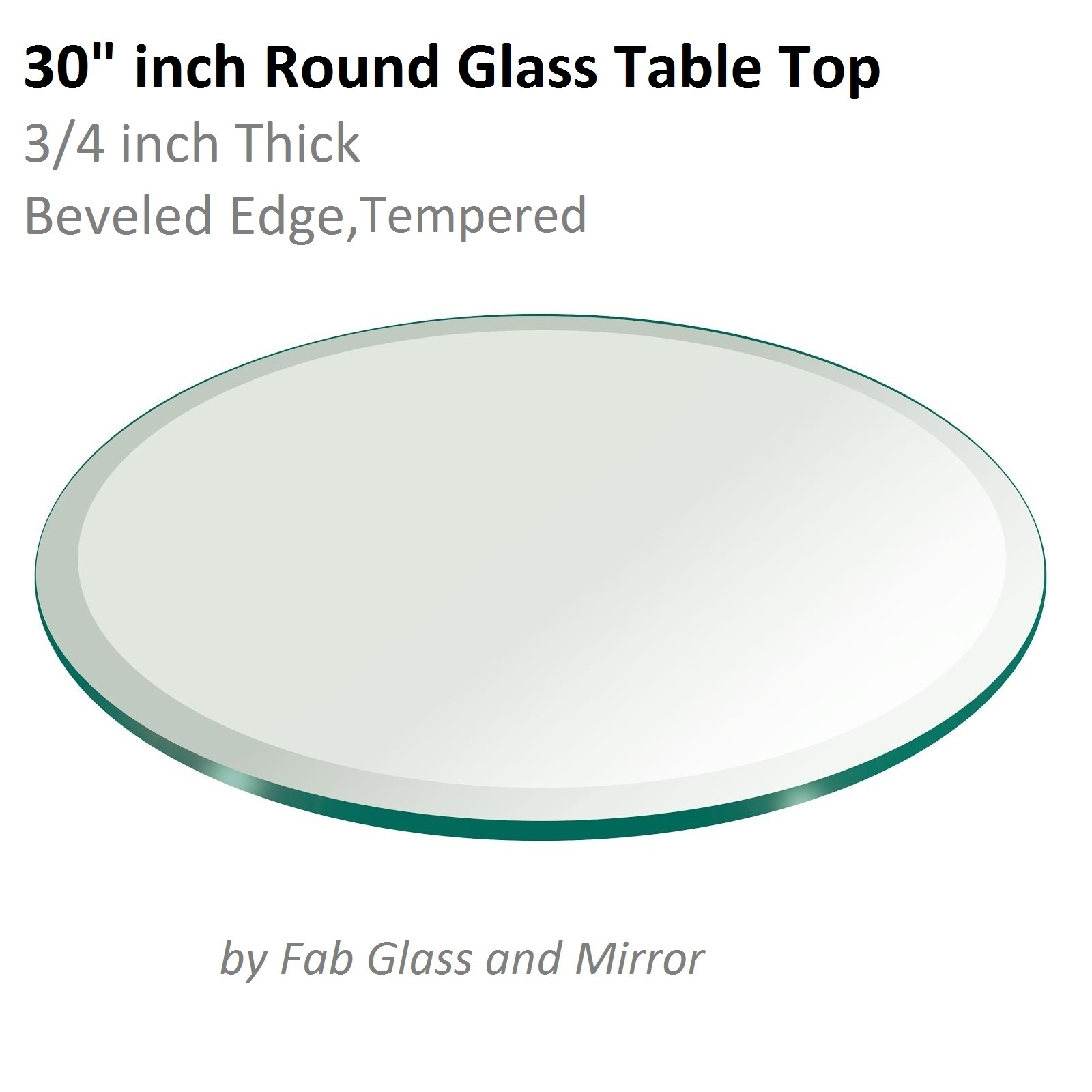 Fab glass and mirror round clear glass table top with 1 for Glass and mirror