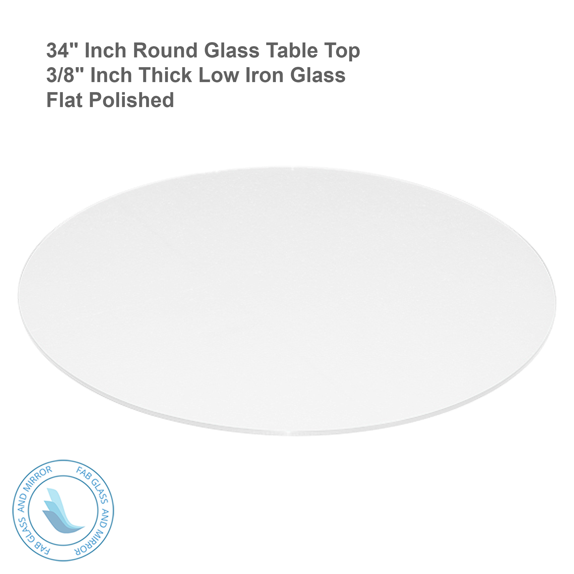 34 Inch Round Mirror Part - 32: Fab-Glass-and-Mirror-Tempered-Round-Glass-Table-