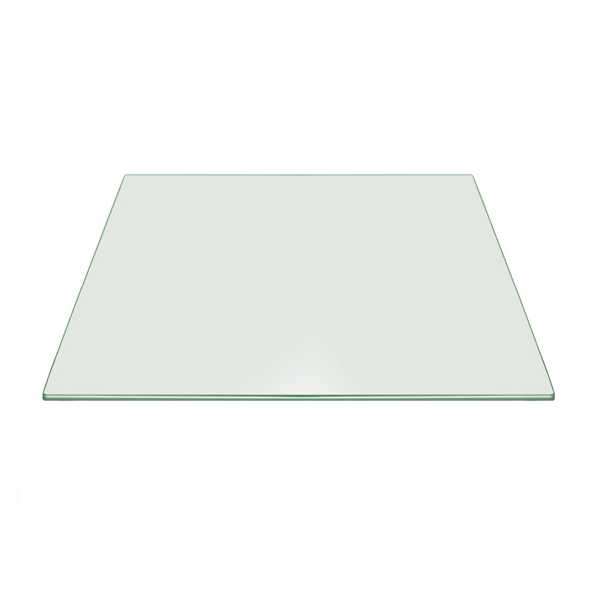 Fab Glass And Mirror Tempered Square Clear Glass Table Top