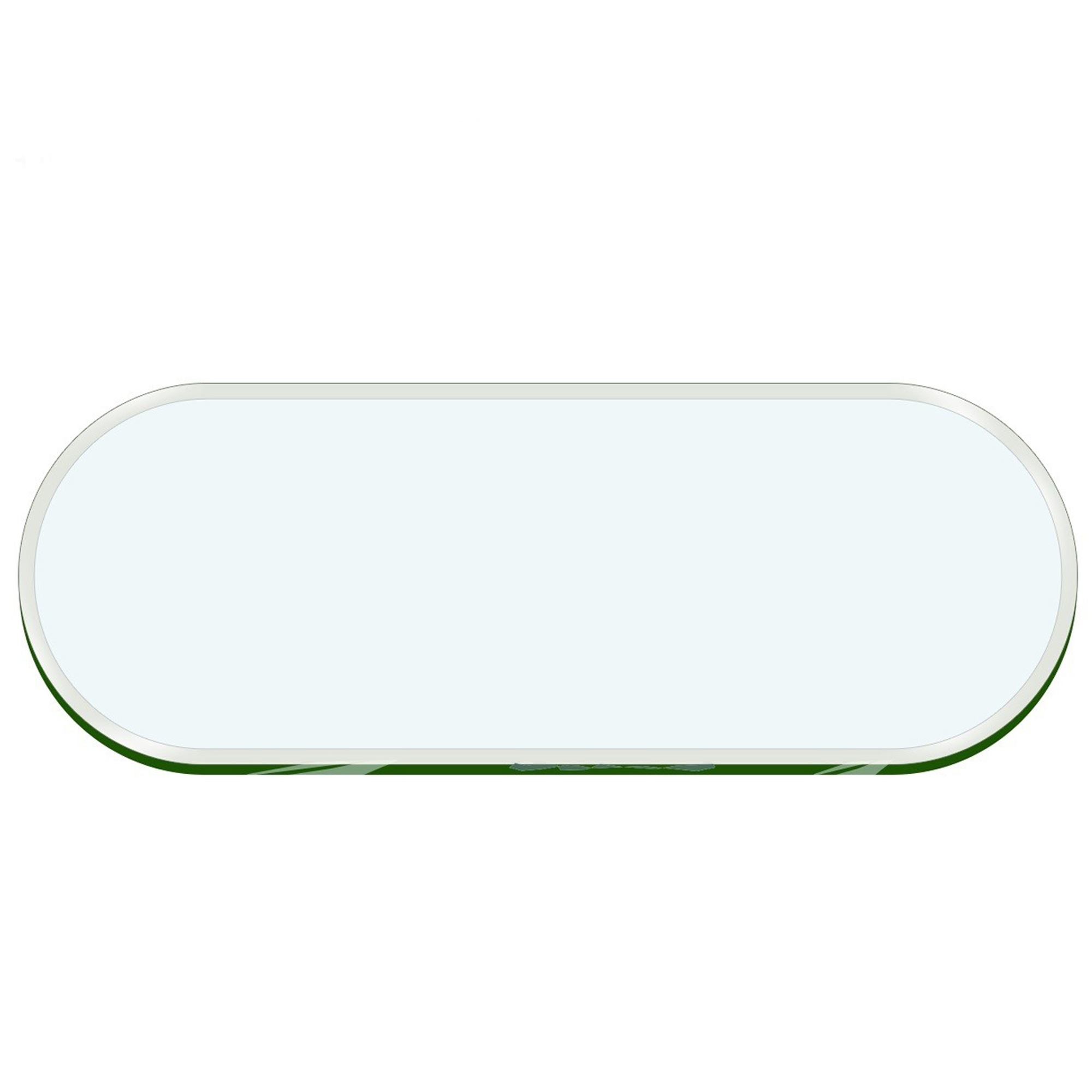 Oval Racetrack Glass Table Top 1 2 Quot Thick 1 Quot Beveled