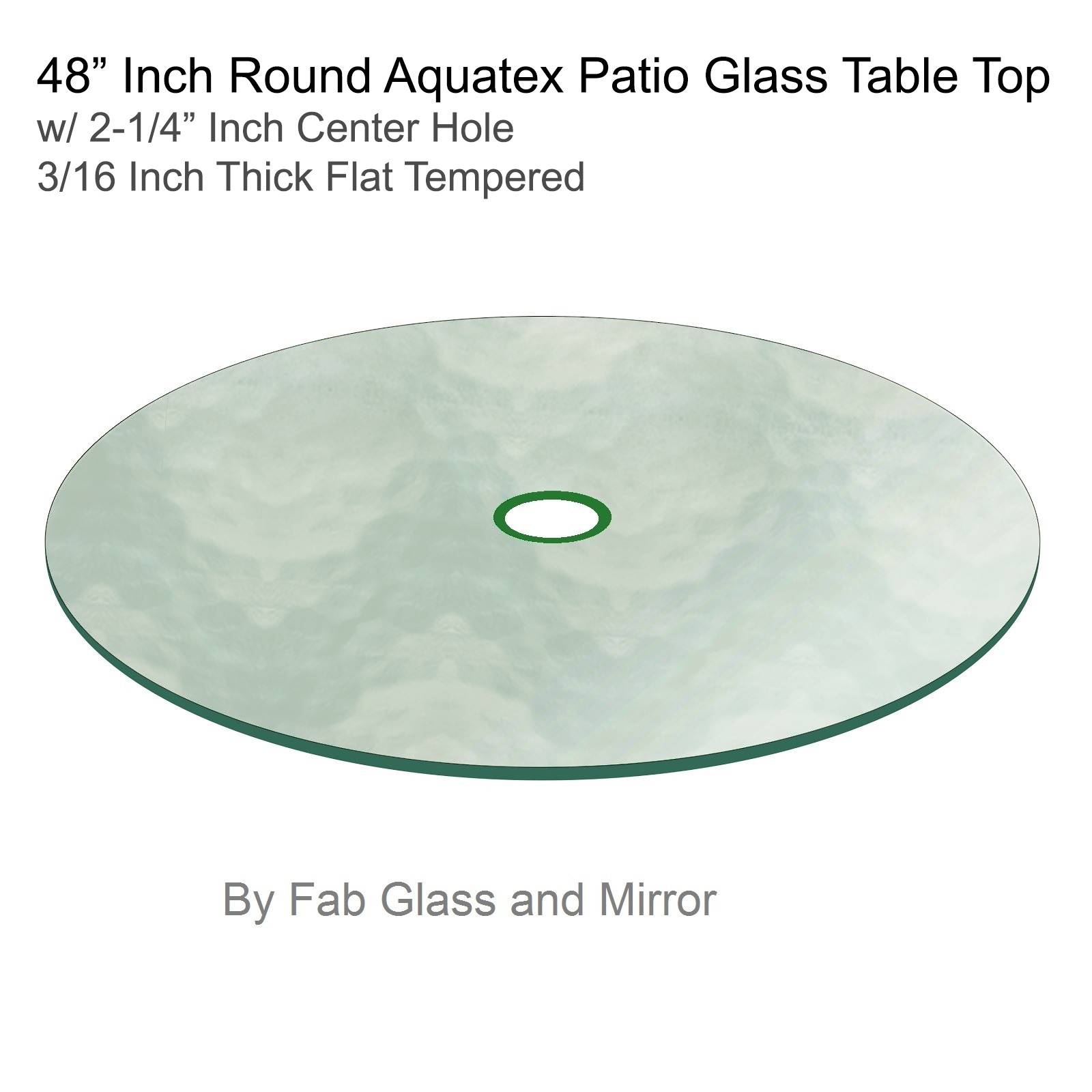 Aquatex Round Patio Glass Table Top 1 8