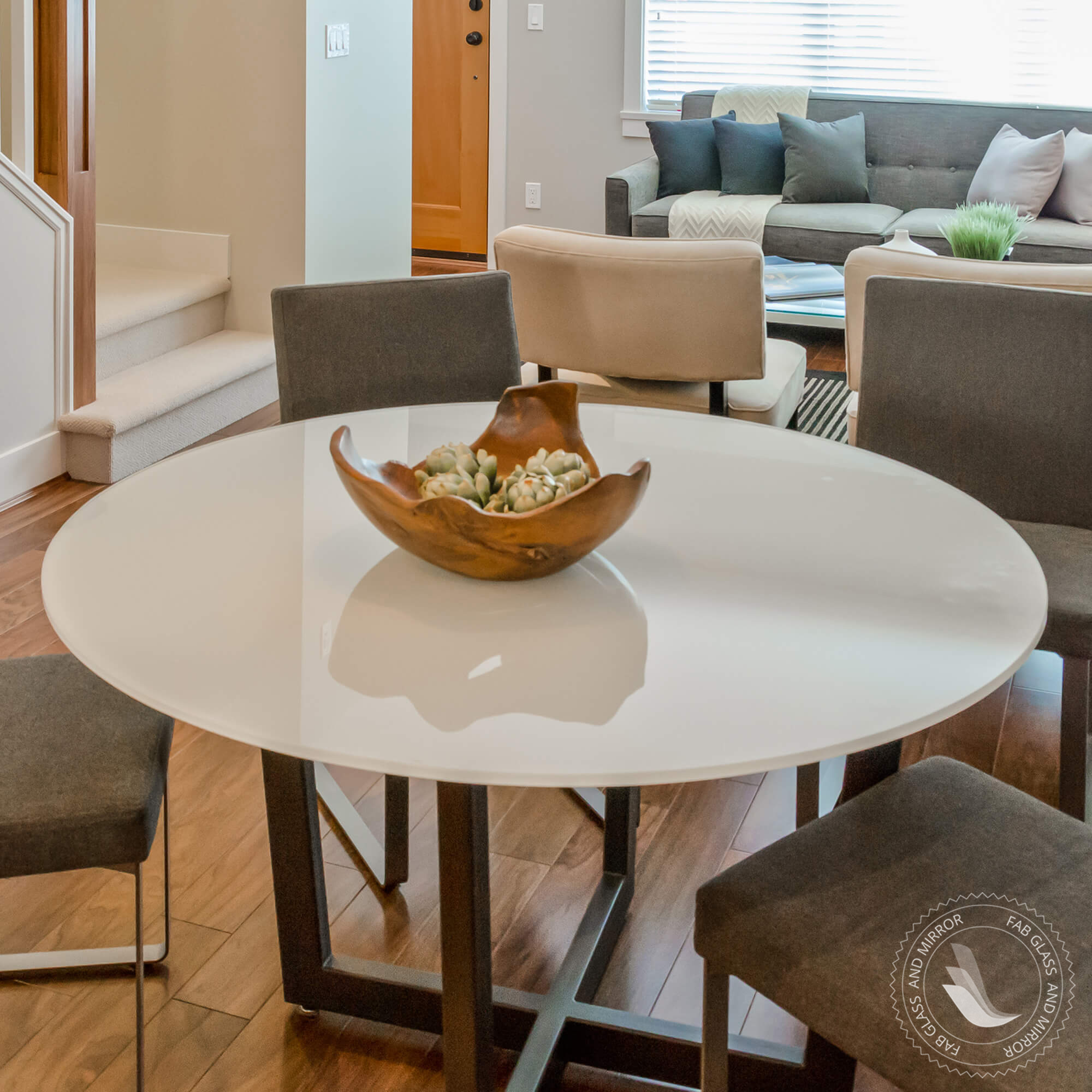 Round glass table tops - Fab Glass And Mirror Tempered Round Glass Table