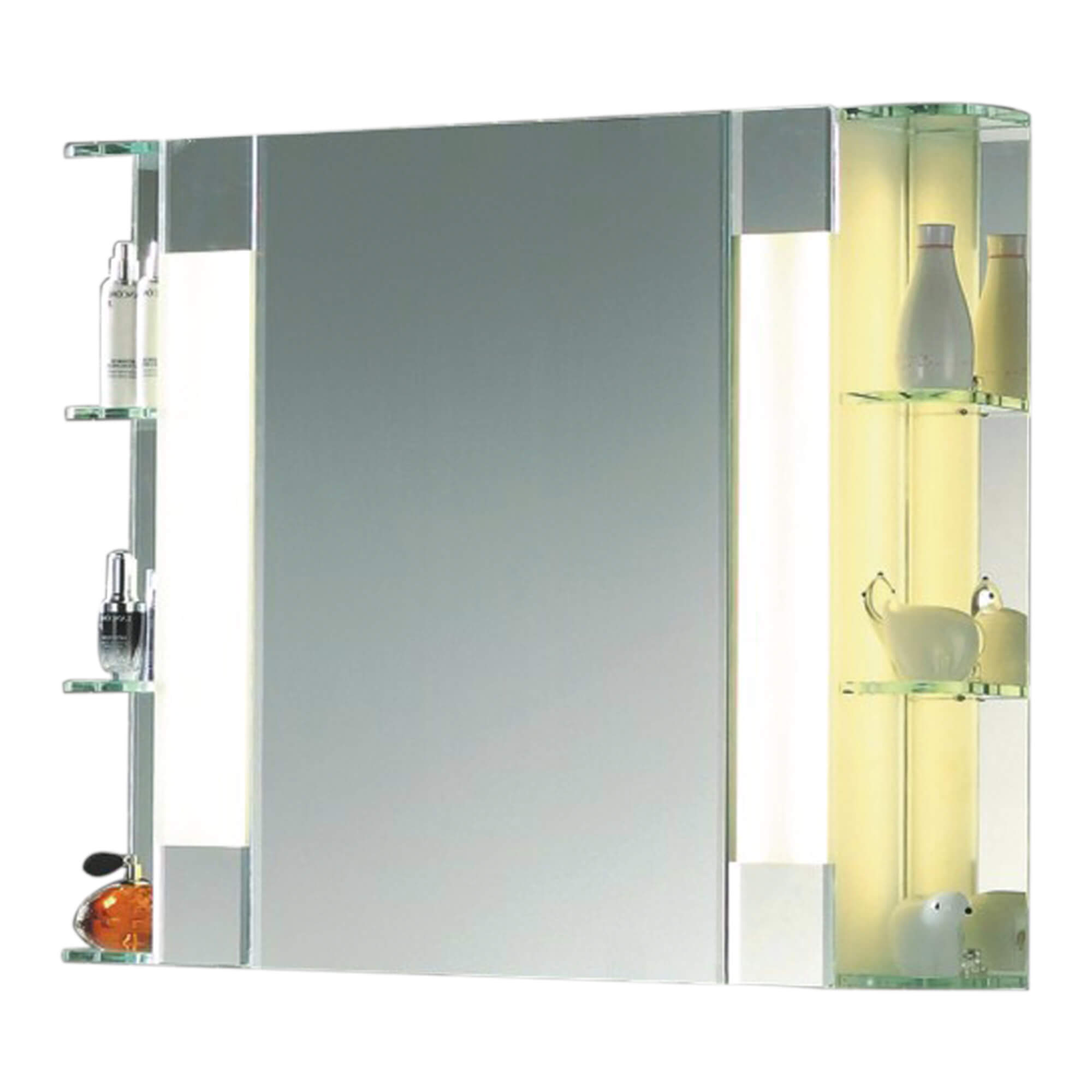 Bathroom Mirror Cabinet W/ LED Lights & adjustable Shelves