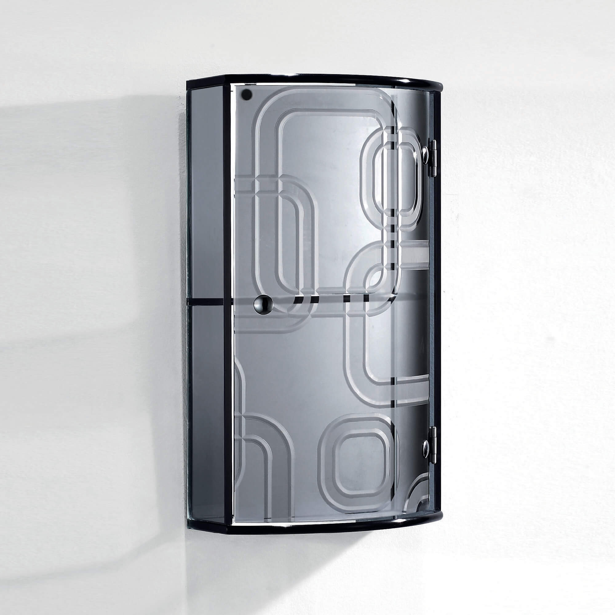 Fab Glass and Mirror Bathroom Wall Mounted Stylish Glass Cabinet ...