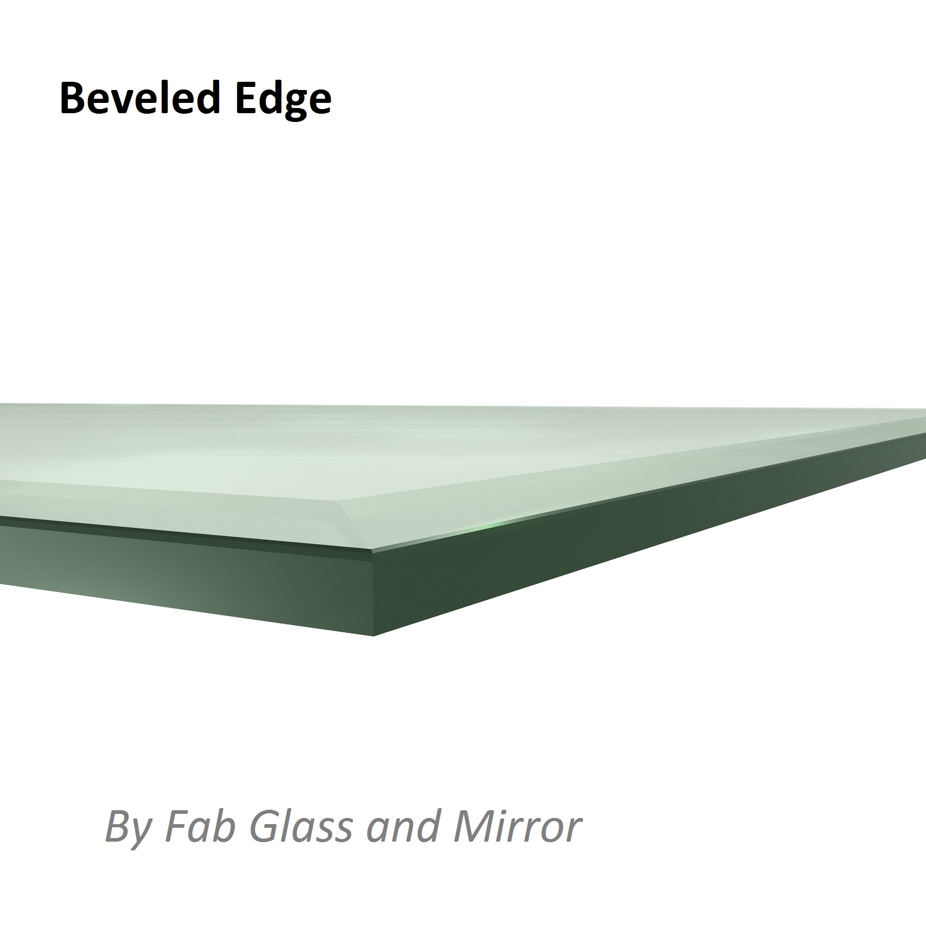 Fab Glass And Mirror Rectangle Tempered Clear Glass Table
