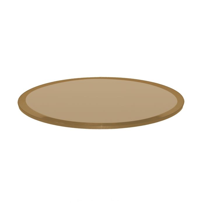 Bronze Glass Table Top 42 Inch Round, Round Glass Table Top 42