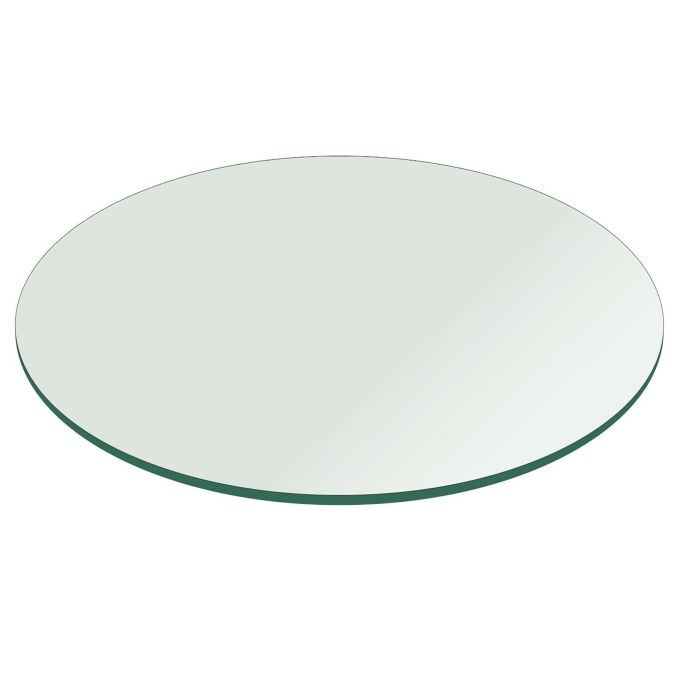 24 Clear Round Glass Table Tops, 24 Inch Round Table